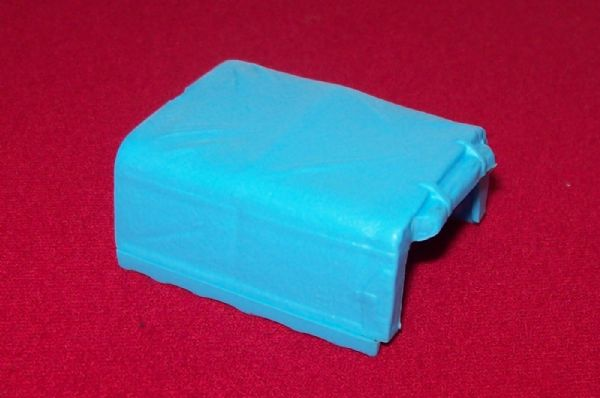 CORGI TOYS GIFT SET # 19 Land Rover Chipperfield Blue plastic canopy (transfers extra)